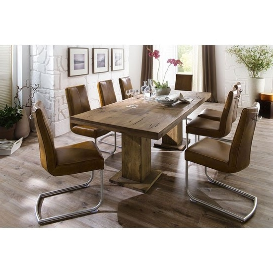 Mancinni 8 Seater Dining Table In 180Cm With Flair Dining Throughout Most Recently Released Dining Tables For  (View 14 of 20)