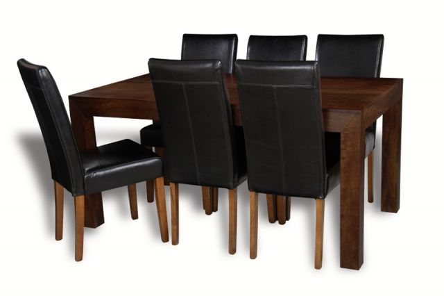Mango 180Cm Dining Table & 6 Barcelona Chairs (View 14 of 20)