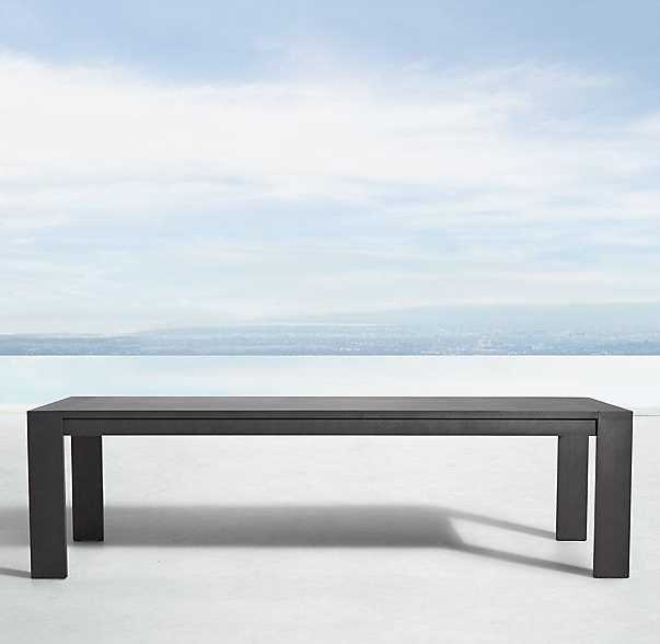 Marbella Aluminum Rectangular Dining Table (View 7 of 20)