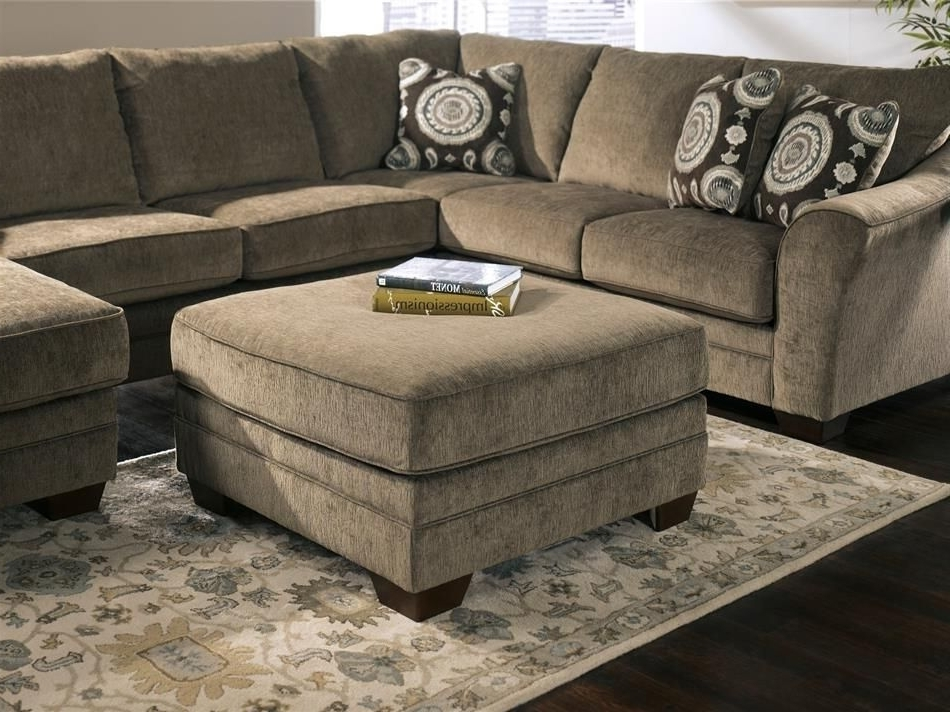 Marble Brown Tan Chaise Oversized Plush With 2018 Burton Leather 3 Piece Sectionals With Ottoman (View 9 of 15)