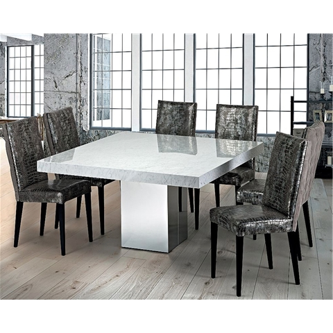 Marble Dining Sets Regarding Most Popular Marble Dining Chairs (View 11 of 20)