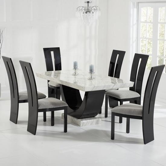 Marble Dining Table And Chairs Uk (View 7 of 20)