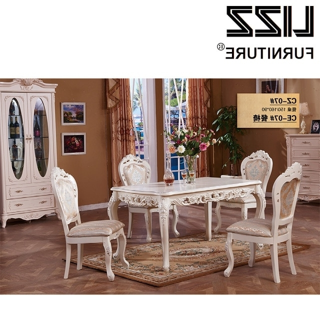 Marble Dining Table Dining Room Furniture Set Royal Furniture With Regard To Well Known Royal Dining Tables (View 7 of 20)