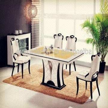 Marble Dining Tables Sets For Current T 1303 Italian Dining Room Tables/ Comtemporary Modern Cheap Marble (View 15 of 20)
