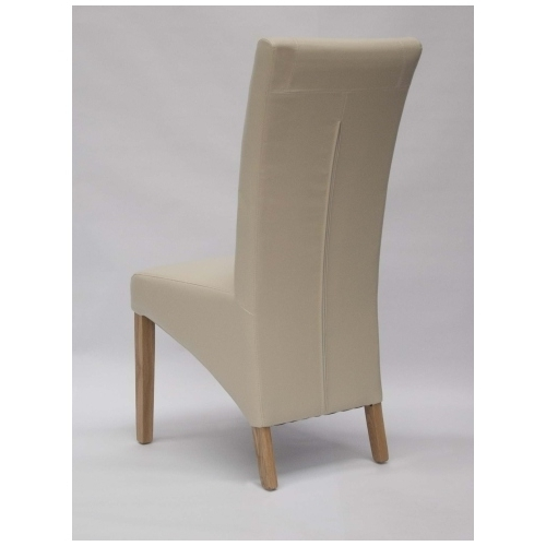 Marco Solid Oak Furniture Cream Leather Dining Chair Black White Throughout Latest Cream Leather Dining Chairs (View 8 of 20)
