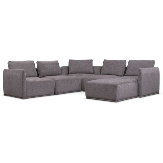 Marcus Grey 6 Piece Sectionals With  Power Headrest & Usb With Regard To Latest 6 Piece Sectional Marcus Grey W Power Headrest Usb Living Spaces (View 8 of 15)