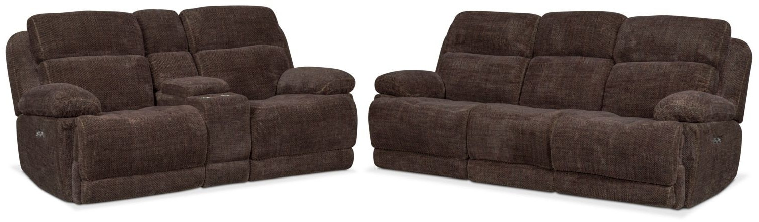 Marius Dark Grey 3 Piece Sectionals With Regard To Widely Used Monte Carlo Dual Power Reclining Sofa And Reclining Loveseat Set (View 4 of 15)