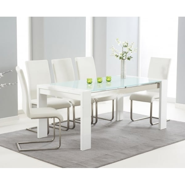 Mark Harris Sophia White 180Cm Hi Gloss Dining Set – Mark Harris Regarding Well Liked Hi Gloss Dining Tables Sets (View 11 of 20)