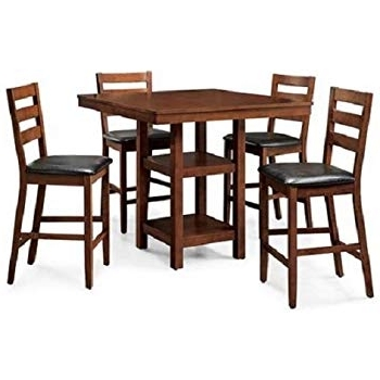 Market 5 Piece Counter Sets Within Well Known Amazon – Coaster Normandie 5 Piece Counter Height Table Set (View 6 of 20)