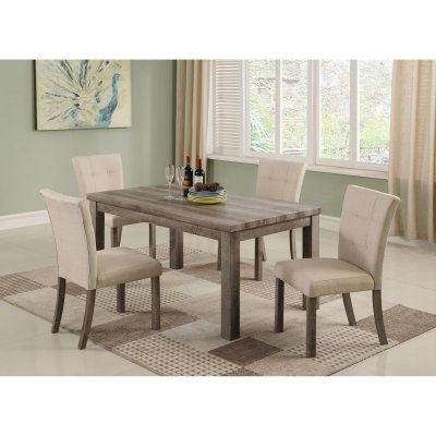 Market 6 Piece Dining Sets With Host And Side Chairs Regarding Most Popular Best Master Furniture Hadley 5 Piece Dining Table Set In  (View 11 of 20)