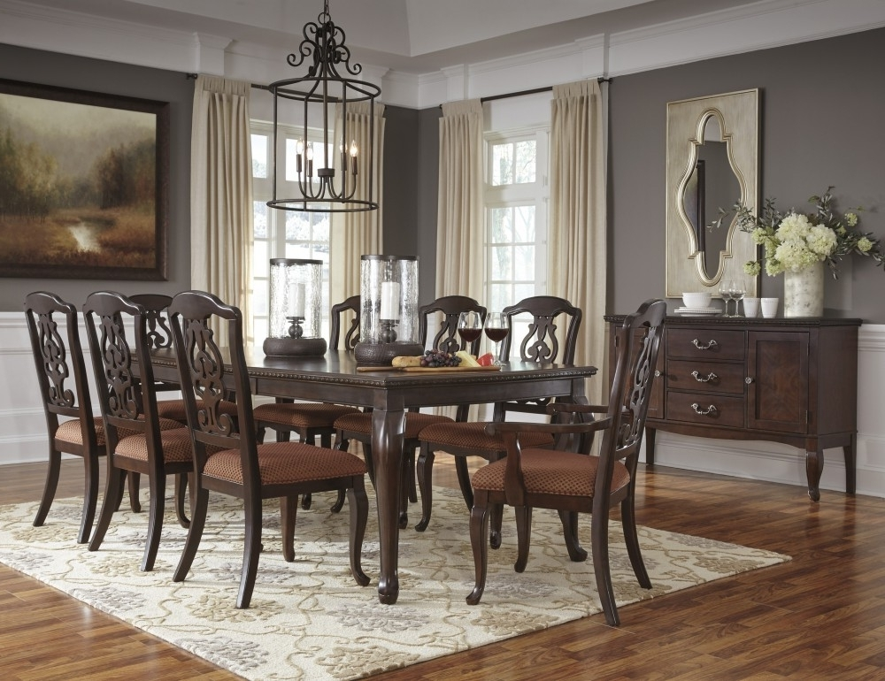 Market 6 Piece Dining Sets With Side Chairs With Regard To Preferred Gladdenville – Rect Dining Room Ext Table, 6 Uph Side Chairs & 2 Uph (View 9 of 20)