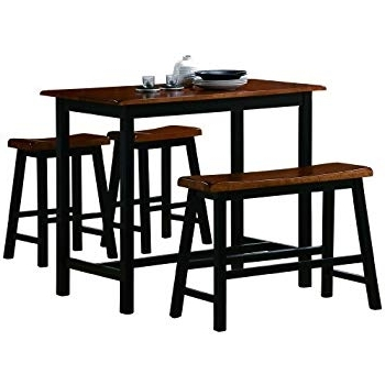 Market 7 Piece Counter Sets In Favorite Amazon – Crown Mark Tyler 4 Piece Counter Height Table Set (View 8 of 20)