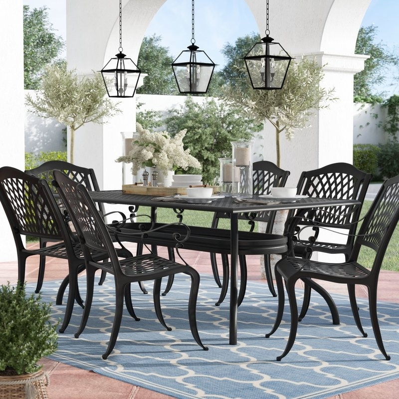 Market 7 Piece Counter Sets Within Trendy Alcott Hill Castle Heights 7 Piece Dining Set & Reviews (View 11 of 20)