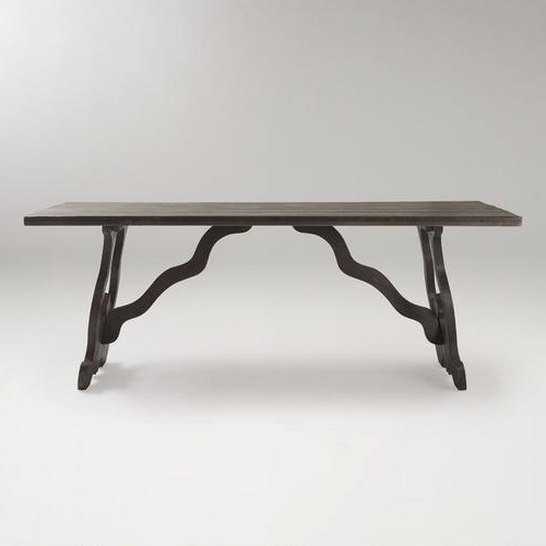 Market Dining Tables Pertaining To Well Liked Weathered Gray Romeo Dining Table – World Market (View 11 of 20)
