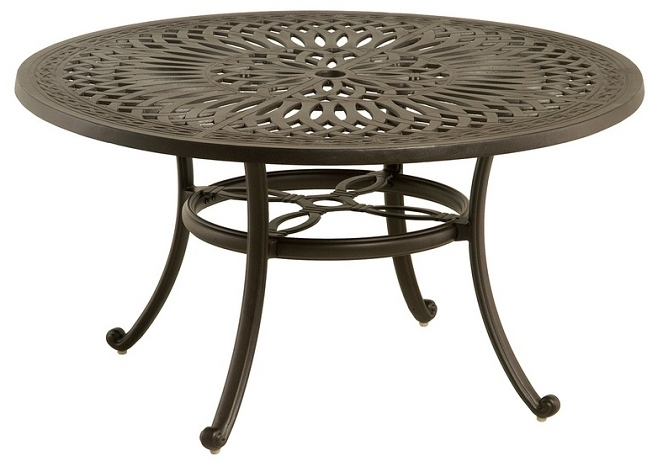 "Mayfair Dining Tables Within Well Liked Mayfairhanamint Luxury Cast Aluminum 54"" Round Dining Table W (View 12 of 20)"