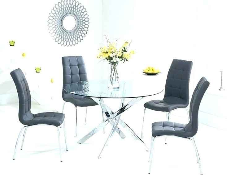 Metal And Glass Furniture Glass Dining Tables Sets White Glass Throughout Recent Glass And Oak Dining Tables And Chairs (View 16 of 20)