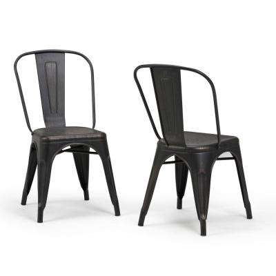 Metal – Dining Chairs – Kitchen & Dining Room Furniture – The Home Depot Pertaining To 2018 Black Dining Chairs (View 15 of 20)