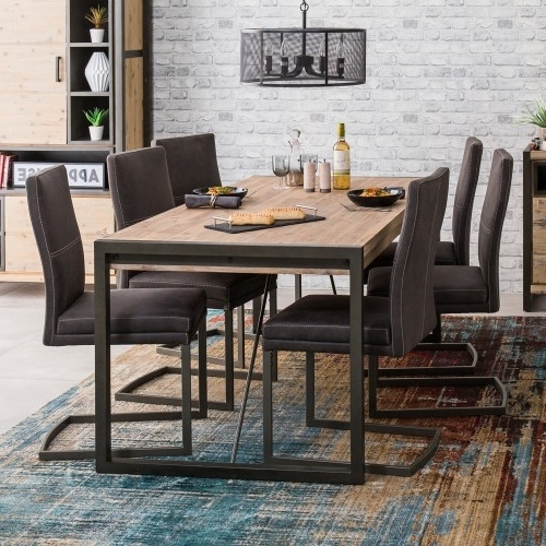 Metro Dining Table & 6 Chairs Pertaining To Latest Metro Dining Tables (View 7 of 20)