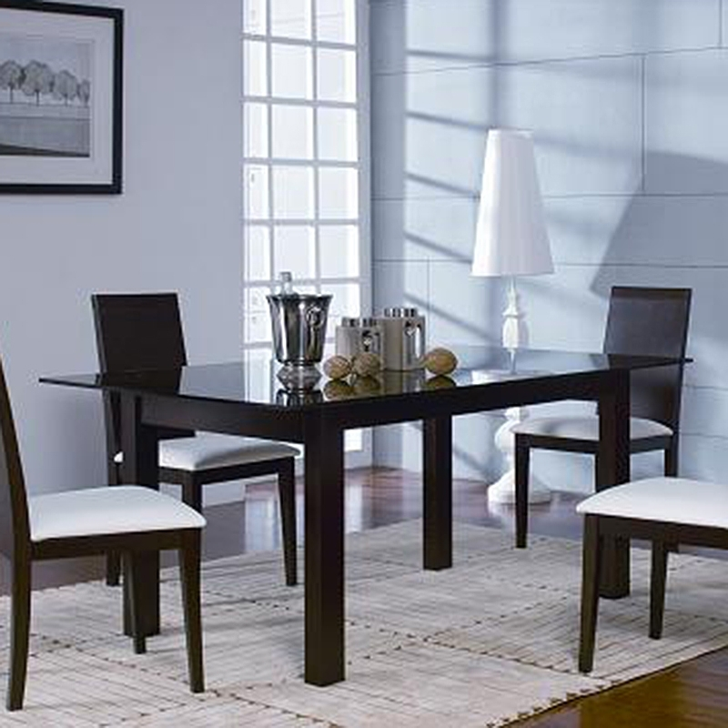 Metro Dining Tables Within Most Recent Metro Dining Table (Oak Chocolate) (View 9 of 20)