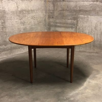 Mid Century Round Teak Dining Tableib Kofod Larsen For G Plan With Well Liked Helms 5 Piece Round Dining Sets With Side Chairs (View 15 of 20)