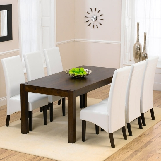 Milan Dark Oak Dining Table And 6 Verona Dining Chairs Throughout Trendy Verona Dining Tables (View 6 of 20)