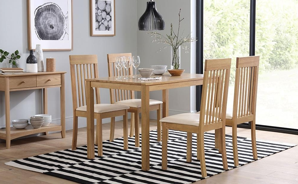 Milton Dining Tables In 2017 Milton Oak Dining Table With 6 Oxford Ivory Chairs Only £ (View 2 of 20)