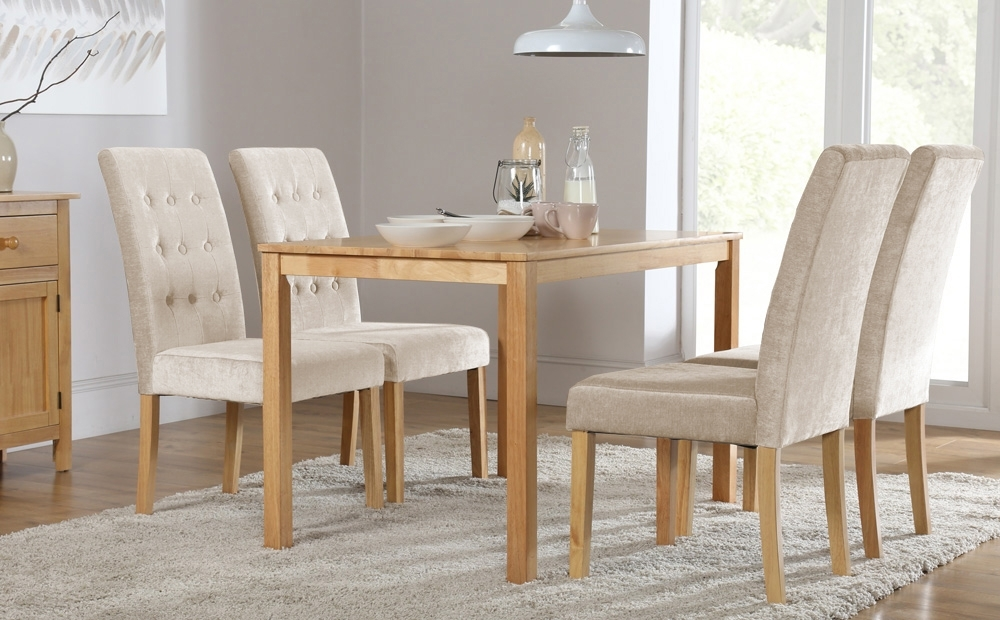 Milton Dining Tables Throughout Best And Newest Milton Dining Table And 6 Chairs Set (regent Oatmeal) Only £ (View 18 of 20)