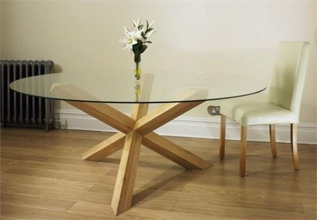 Featured Photo of Round Glass And Oak Dining Tables