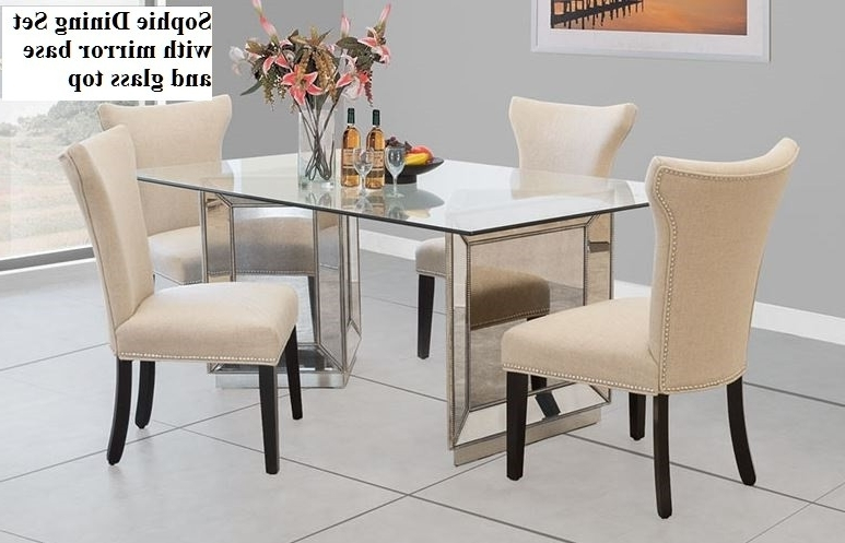 Mirrored Dining Tables In Current Sophie Mirrored Dining Table Beautiful Sophie Mirror Dining Set (View 10 of 20)