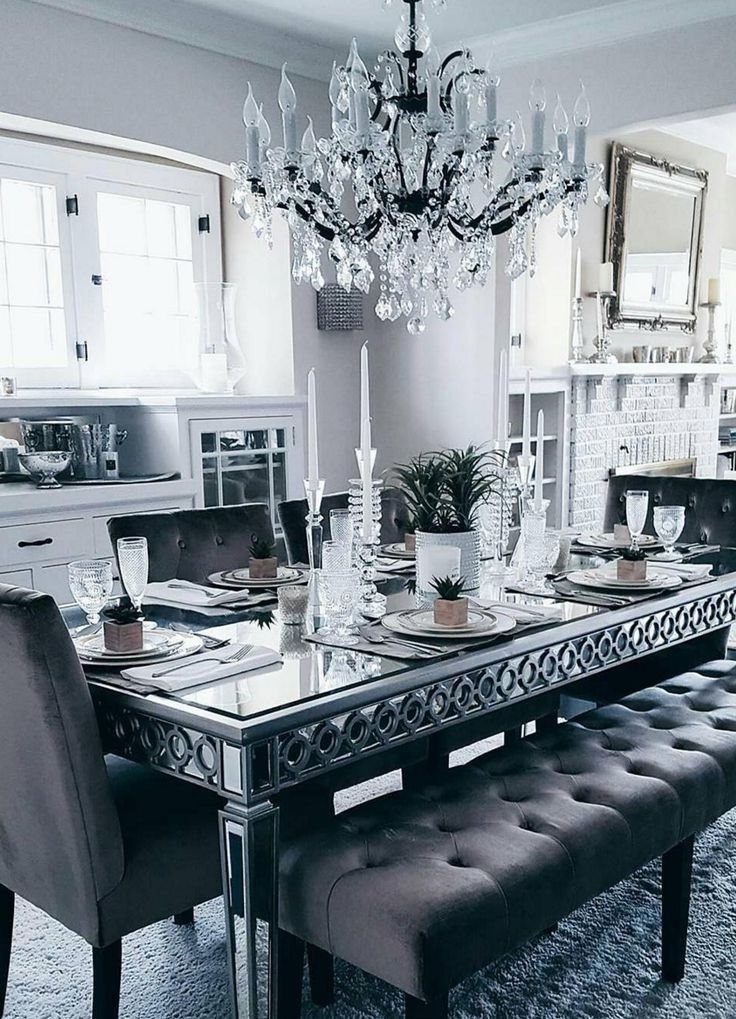Mirrored Dining Tables Inside Popular Sophie Mirrored Dining Table Fresh Best 25 Glass Dining Table Ideas (View 11 of 20)