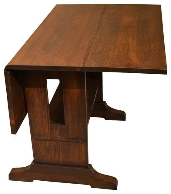 Mission Solid Oak Drop Leaf Dining Table – Craftsman – Dining Tables Pertaining To Well Liked Cheap Drop Leaf Dining Tables (View 10 of 20)