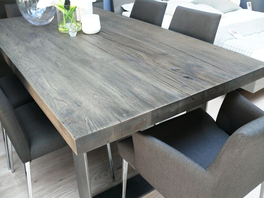 Misty Throughout Most Popular Grey Dining Tables (View 13 of 20)