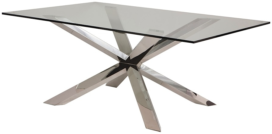 Modern Digs Furniture With Most Popular Glass And Stainless Steel Dining Tables (View 12 of 20)