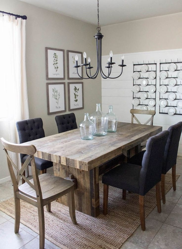 Modern Dining Room Furniture In Most Up To Date Modern Farmhouse Dining Room & Diy Shiplap (View 10 of 20)