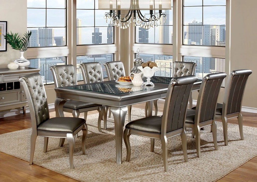 Modern Dining Room Sets Inside Fashionable Grey Modern Dining Room Sets — Bluehawkboosters Home Design (View 10 of 20)
