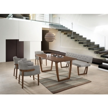 Modern Dining Room Sets Intended For Most Current Modern Veneer Dining Room Tables, Buffets, Benches, Chairs & More (View 12 of 20)