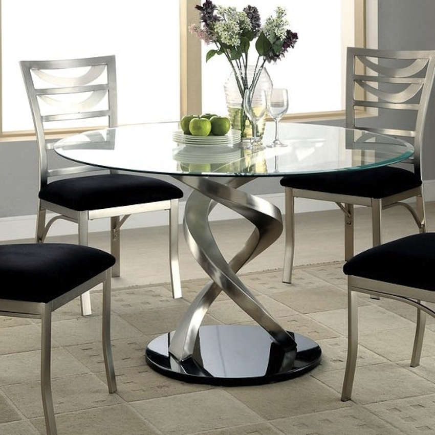 Modern Dining Sets Pertaining To Preferred Dining Room Modern Glass Kitchen Table Round Glass Dining Room Table (View 15 of 20)