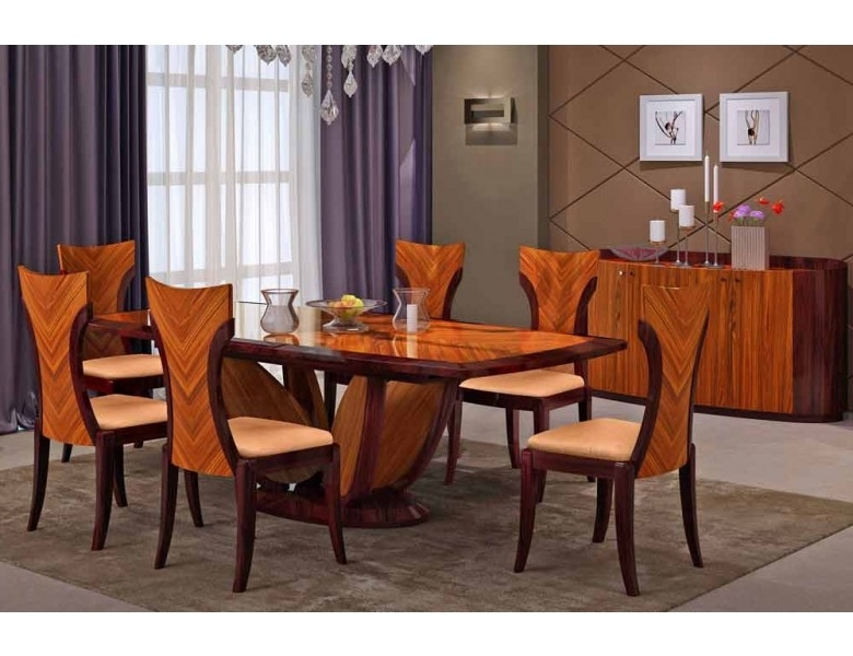 Modern Dining Table And Chairs With Regard To Fashionable Primrose Italian Modern Dining Table Set (View 10 of 20)