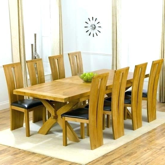 Modern Dining Table For 8 Extending Dining Tables 8 Oak Table Set Intended For Preferred Dining Tables 8 Chairs (View 16 of 20)
