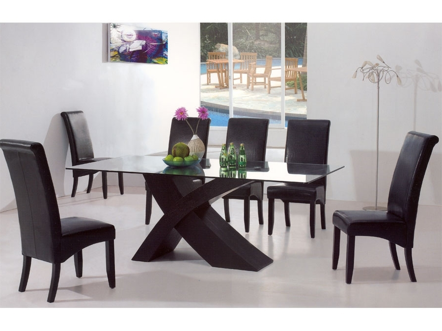 Modern Dining Table Glass : The Holland – Nice, Warm And Cozy Modern In Most Recently Released Modern Dining Room Sets (View 16 of 20)