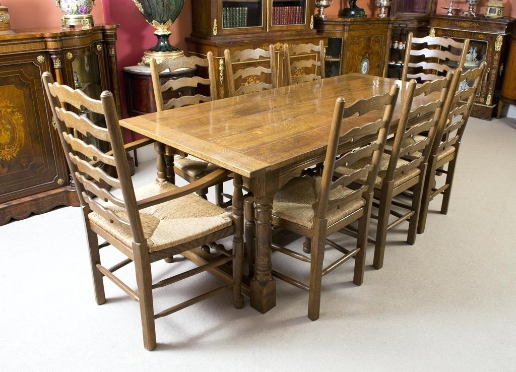 Modern Dining Table With 8 Chairs Fabulous Oak Dining Table And 8 Intended For Best And Newest Oak Dining Tables 8 Chairs (View 7 of 20)