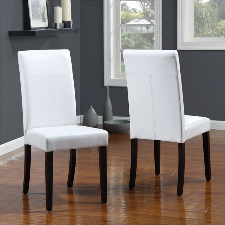 Modern White Leather Dining Chairs Leather Dining Chairs High End With Regard To Most Popular White Leather Dining Room Chairs (View 15 of 20)