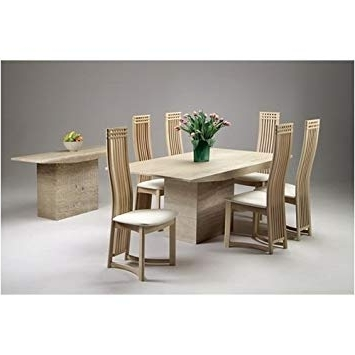 Monaco Dining Tables Inside Well Known Small Dining Table 6 Dining Chairs Marble Monaco: Amazon.co (View 9 of 20)