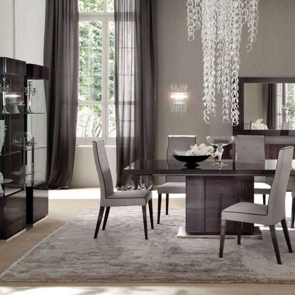 Monza High Gloss Extending Large 196Cm Dining Table & 6 Fabric Chairs Pertaining To Most Recently Released Dining Tables And Fabric Chairs (View 14 of 20)