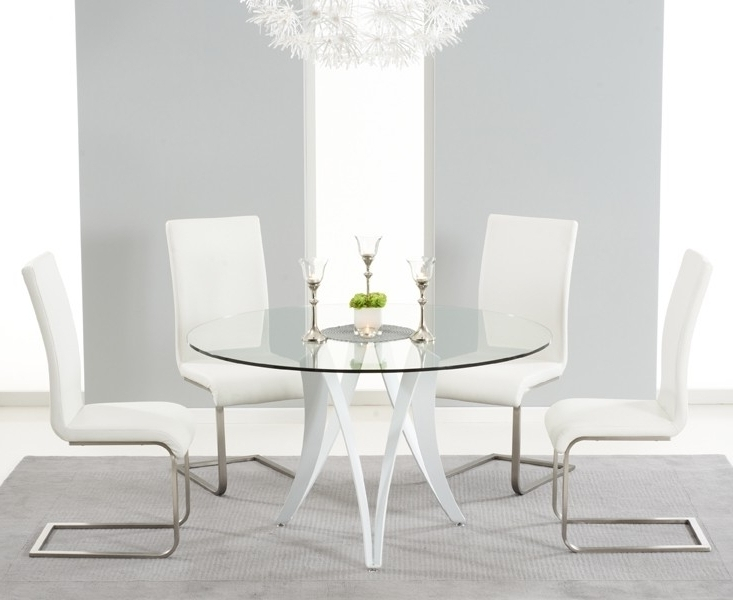 Monza White High Gloss 130Cm Round Dining Table Throughout Well Liked High Gloss Round Dining Tables (View 14 of 20)