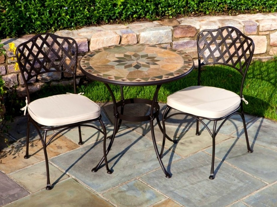 Mosaic Top Outdoor Dining Table Mosaic Chair Round Outdoor Patio Inside Fashionable Mosaic Dining Tables For Sale (View 20 of 20)