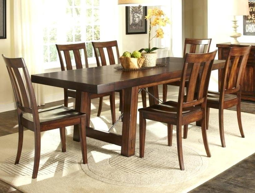 Most Current 7 Piece Dining Room Set Under Furniture Appealing Appearance Wooden With Parquet 7 Piece Dining Sets (View 8 of 20)