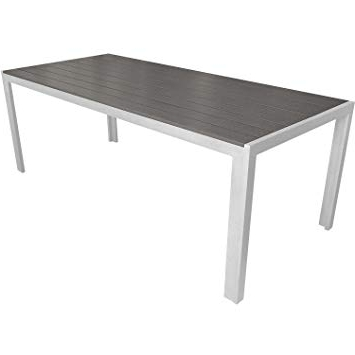 Most Current Aluminium Garden Table 205 X 90 Cm / Dining Room Table Kitchen Table With Regard To Non Wood Dining Tables (View 9 of 20)