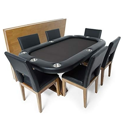 Most Current Amazon : Bbo Poker Helmsley Poker Table For 8 Players With Black Throughout Helms 6 Piece Rectangle Dining Sets (View 7 of 20)