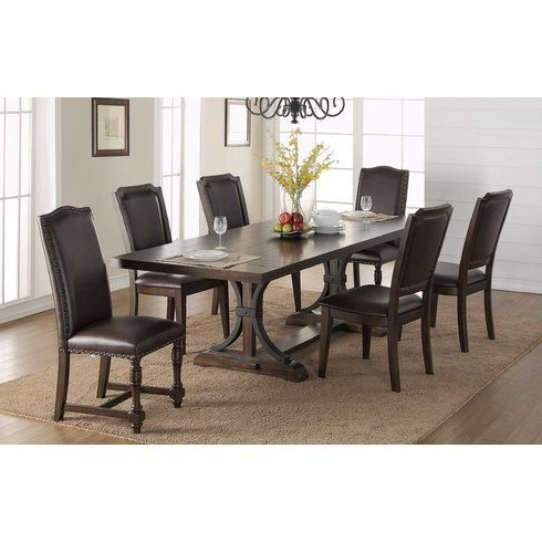 Most Current Amos 7 Piece Extension Dining Sets Inside Lowell Extension Table (View 13 of 20)